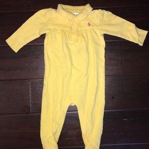 Polo Ralph Lauren one piece 9 months yellow